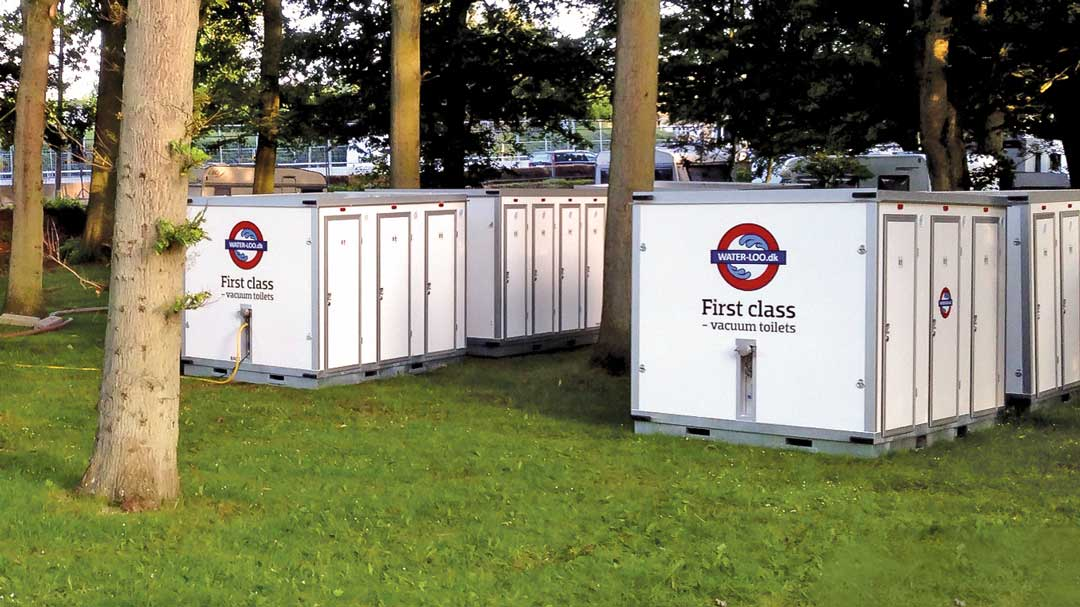 Foto: Mobile Vakuumtoiletten in Containern